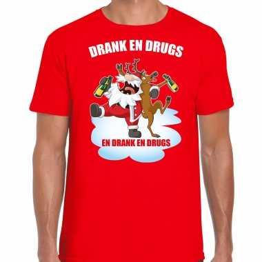 Fout rendiershirt / pak drank drugs rood heren