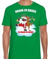Fout rendiershirt pak drank drugs groen heren