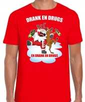 Fout rendiershirt pak drank drugs rood heren