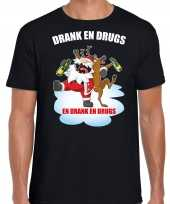 Fout rendiershirt pak drank drugs zwart heren