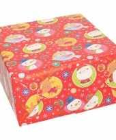 Pakket stuks rendierpapier rol rood elfje sneeuwpop rendier print bij